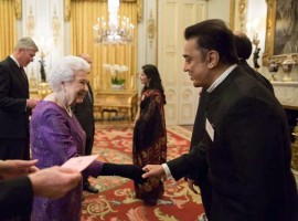 South Indian actor Kamal Haasan meets Queen Elizabeth II at 2017 India - England year of cultural function happened yesterday (February 28, 2017) at London.