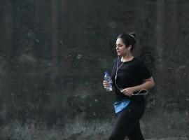 Bollywood actress Anjana Sukhani spotted at Bandra.