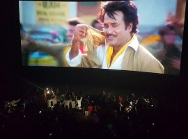 Superstar Rajinikanth's fans celebrates Baashha movie release in Tamil Nadu.