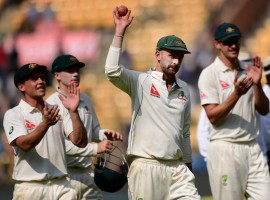 Off-spinner Nathan Lyon ripped apart the Indian batting line-up with career-best figures of 8/50 as the visitors took the upper hand on the opening day of the second cricket Test at the M. Chinnaswamy Stadium here on Saturday. Lyon's figures were the best ever by an Australian bowler against India. The 29-year-old right-armer was helped along by some poor shot selection by the Indian batsmen.