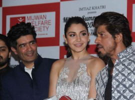 Fashion designer Manish Malhotra, Bollywood actors Shahrukh Khan and Anushka Sharma spotted during the Mijwan Summer 2017 fashion show in Mumbai on March 5, 2017.