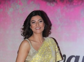 Bollywood actress Sushmita Sen spotted during the Mijwan Summer 2017 fashion show in Mumbai on March 5, 2017.