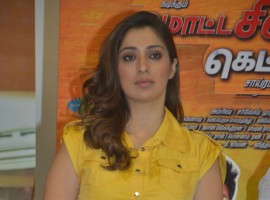 South Indian actress Raai Laxmi at Motta Shiva Ketta Shiva press meet.
