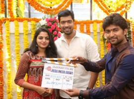 Allari Naresh-Meda Meeda Abbayi movie launched in Hyderabad. Celebs like Nani, Nikhila Vimal and others graced the event.