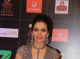 Waluscha De Sousa spotted during the Fair & Lovely Zee Cine Awards 2017 in Mumbai on March 11, 2017.