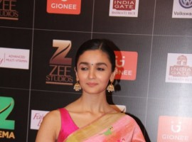 Bollywood actress Alia Bhatt spotted during the Fair & Lovely Zee Cine Awards 2017 in Mumbai on March 11, 2017.