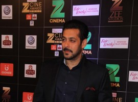Bollywood actor Salman Khan spotted during the Fair & Lovely Zee Cine Awards 2017 in Mumbai on March 11, 2017.