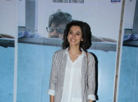 Trapped special screening held in Mumbai. Celebs like Taapsee Pannu, Rajkummar Rao, Kriti Sanon, Richa Chadda and other Bollywood Celebs spotted at special screening.