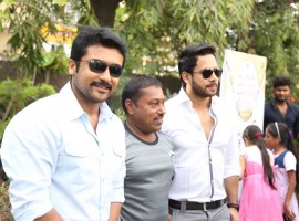 Tamil movie Kadugu audio launch event held in Chennai on 14th March. Celebs like Suriya, Bharath, Vijay Milton, Pandiraj, Rajsekar Pandian and others graced the event.