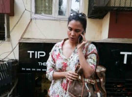 Bollywood actress Lara Dutta spotted at Bandra.