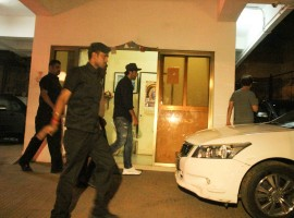 Bollywood actor Ranbir Kapoor spotted at Vidhu Vinod Chopra house.