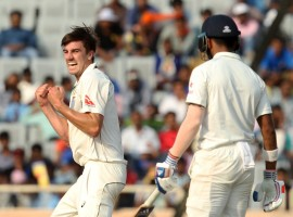 India lost the wicket of opener Lokesh Rahul (67) to finish the second day's play at 120/1 in their response to Australia's first innings total of 451 in the third cricket Test here on Friday.