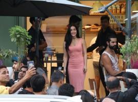 Bollywood actress Elli Avram spotted at Bandra.
