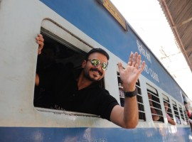 Actor Vivek Oberoi took a local train after 15 years to launch his affordable housing project Karrm Brahmaand here.