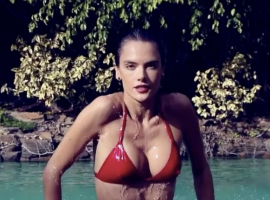 Hollywood actress Alessandra Ambrosio's topless pictures go viral.