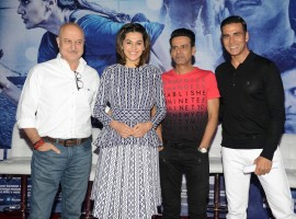 Akshay Kumar, Taapsee Pannu, Anupam Kher and Manoj Bajpayee interacted with the media in Delhi for a special press conference for their upcoming film, 'Naam Shabana.' The event began with them showcasing the trailer of the film, and the response to it by the media was positive and encouraging.