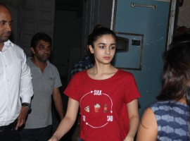 Bollywood actress Alia Bhatt spotted at Mehboob Studio, in Bandra, Mumbai.