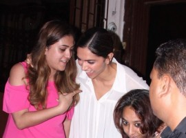 Bollywood actress Deepika Padukone spotted at Shankar Mahadevan Recording Studio.