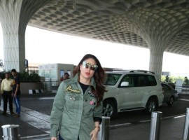 Bollywood actress Kareena Kapoor Khan spotted at Mumbai International Airport.