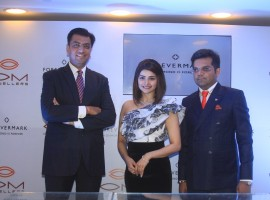 Bollywood actress Prachi Desai launches Forevermark Jewellery collection in Mumbai on March 21, 2017.