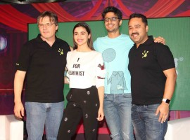 Bollywood actress Alia Bhatt during the launch of Life Sim Experiential Game in Mumbai on March 21, 2017.