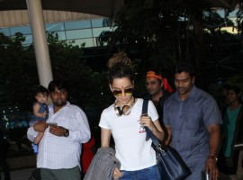 Bollywood actress Kangana Ranaut visits Vaishno Devi ahead of her 30th birthday.