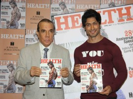 Bollywood actor Vidyut Jammwal, Nari Hira, CMD, Magna Publishing Company and Vinodini Krishnakumar, Editor, Health & Nutrition during the unveiling of the March 2017 issue of Health & Nutrition magazine in Mumbai on March 23, 2017.