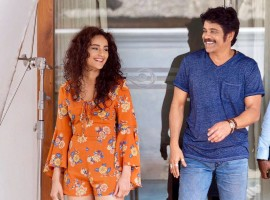 South Indian actor Nagarjuna Akkineni and Actress Seerat Kapoor spotted on the sets of Raju Gari Gadhi 2.