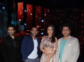 Bollywood actress Sonakshi Sinha promotes Noor on the set of Nach Baliye season 8.