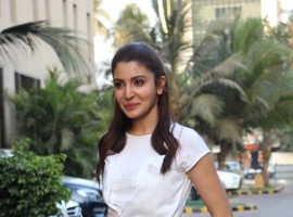 Bollywood actress Anushka Sharma at the promotional event of Phillauri.