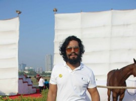 Bollywood actor Randeep Hooda before participating in the horse jumping competition at Amateur Riders' Club (ARC) Polo Ground, Mahalaxmi Race course in Mumbai on March 24, 2017.
