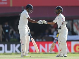 India were bowled out for 332 at lunch, taking a crucial 32- run lead in their first innings on the third day of the fourth and final cricket Test against Australia here on Monday. Resuming the day at 248/6, overnight batsmen Ravindra Jadeja (63) and Wriddhiman Saha (31) added 69-runs before the former was dismissed by pacer Pat Cummins in 113th over.