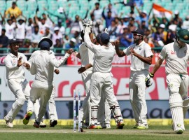 India bowled out Australia for 137 in their second innings to set a 106-run target for clinching the final cricket Test match -- and the four-match series -- here on Monday, the third day of their ongoing encounter.