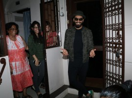 Bollywood actor Ranveer Singh spotted at Shankar Mahadevan studio.