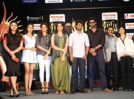 IIFA Utsavam Awards 2017 Press Meet held at Hyderabad. Celebs like Nani, Rana Daggubati, Akshara Haasan, Ritika Singh, Pragya Jaiswal, Shanvi, Raai Laxmi, Meghana Gaonkar, Isha Talwar, Nassar, Gemini Kiran and others graced the event.
