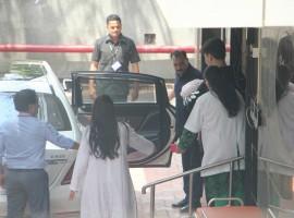 Karan Johar snapped with his newborn babies.