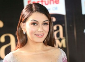 South Indian actress Hansika Motwani at IIFA Utsavam Awards 2017 Green Carpet.