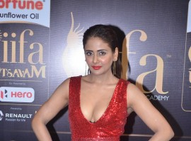 South Indian actress Parul Yadav spotted at IIFA Utsavam Awards 2017 Green Carpet.