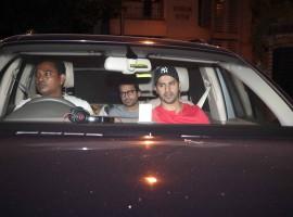 Bollywood actor Varun Dhawan and Sidharth Malhotra spotted at Karan Johar's house.