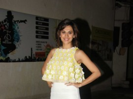 Taapsee Pannu spotted at Naam Shabana special screening.