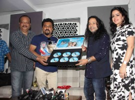 Bollywood singer Kailash Kher spotted during the song launch of 'Vote do' for film Blue Mountains in Mumbai on March 29, 2017.