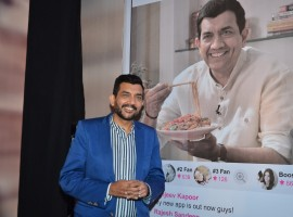 Celebrity chef, entrepreneur writer and television personality, Sanjeev Kapoor, announced today the release of his new mobile app in collaboration with New York-based tech firmEscapeX. The new app will enable fans to access the Chef's social handles (Facebook, Twitter, Instagram) and directly interact with him through the in-app social feed. This provides an unparalleled experience for his large fan base, who will enjoy unique & exclusive content from Sanjeev Kapoor and a personal view of his life.