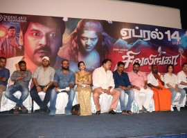 Tamil movie Shivalinga press meet event held in Chennai on April 3, 2017. Celebs like Raghava Lawrence, Ritika Singh,  P. Vasu, Radha Ravi and others graced the event.