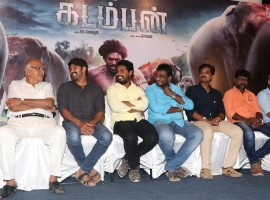 Tamil movie Kadamban press meet event held at Chennai. Celebs like Arya, RB Choudary, Raghava, Jithan Ramesh and others graced the event.