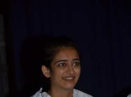 South Indian actress Akshara Hassan at Chandra Haasan Memorial Meet.