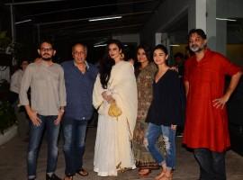 The recent screening of Begum Jaan was a star-studded affair. Bollywood stars like Vidya Balan, Rekha, Alia Bhatt, Sidharth Roy Kapur, Mahesh Bhatt and others spotted at special screening.