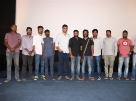 Joker movie National Award Press Meet event held in Chennai. Celebs like Guru Somasundaram, Raju Murugan, SR Prabhu, Sean Roldan and others graced the event.