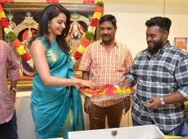 South Indian actress Rakul Preet Singh launches SouthIndia Shopping Mall at Parklane in Secunderabad on April 7, 2017.