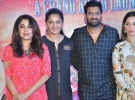 Tamil movie Baahubali 2 audio launch event held at Chennai. Celebs like Prabhas, Anushka Shetty, Tamannaah, SS Rajamouli, Sathyaraj, Ramya Krishnan, Nassar, Rama Rajamouli, MM Keeravani, Srivalli Keeravaani, K Raghavendra Rao, Keyaar, RK Suresh, RJ Balaji, Dhananjayan, Rajesh M Selva, Nirosha, Ramki, Dhanush, Kalaipuli S Thanu, Kabilan Vairamuthu, Madhan Karky, Yuvan Shankar Raja, Krishna Kulasekaran and others graced the event.