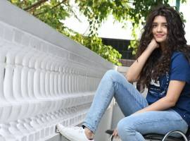 South Indian actress Ritika Singh spotted at Shivalinga movie Interview.